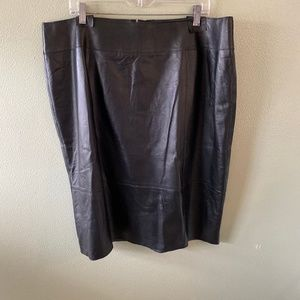 NEW halogen for encore leather pencil skirt